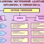 Механизмы экстренной адаптации к гипоксии