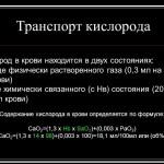 Кислород в составе крови