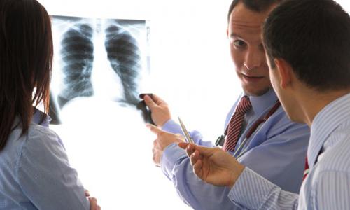 Рентгенограмма при диффузном бронхите