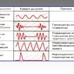 Типы дыхания в норме и при различных патологических состояниях