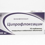 Ципрофлоксацин против бактериальной инфекции